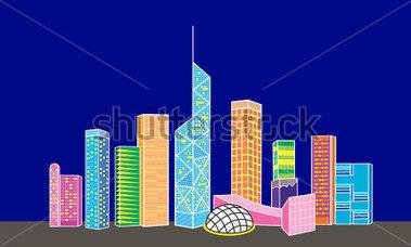 Hong Kong Landmarks Clipart.