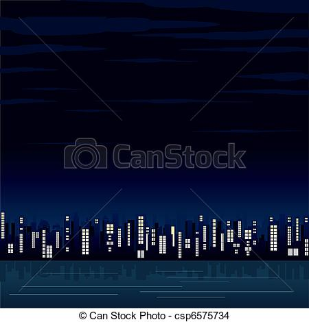 City night view Vector Clipart EPS Images. 1,501 City night view.