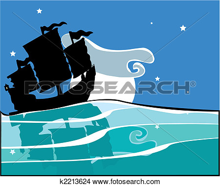 Chinese Junk Clipart.