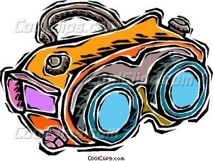 night vision goggles Vector Clip art.