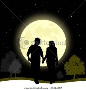 Night walk clipart #16