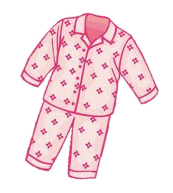Kids nightgown clipart.