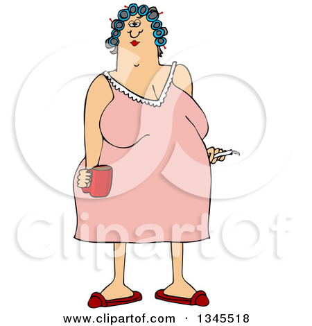 Girl in nightgown clipart.