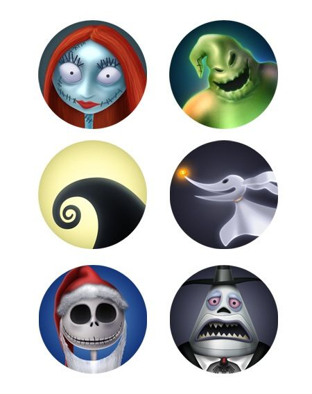 Nightmare Before Christmas Characters.