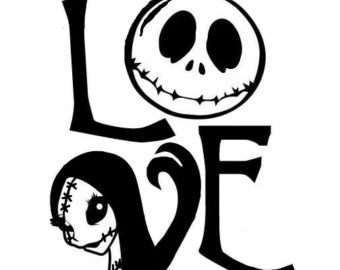 Nightmare Before Christmas Clipart Black And White.