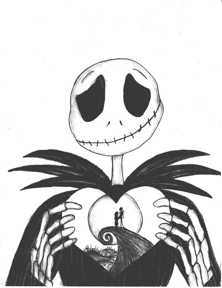 Free Printable Nightmare Before Christmas Coloring Pages.