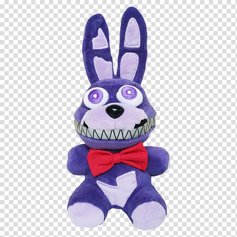 Funko FNaF Nightmare Bonnie Plush transparent background PNG.