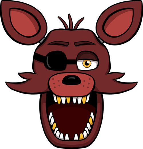 Nightmare Foxy Clipart.