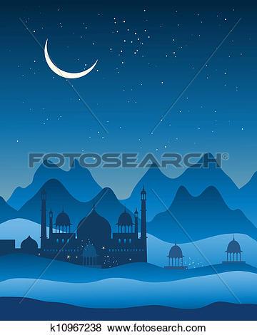 Clip Art of india landscape background k10967238.