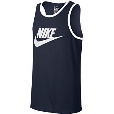 Nike Mens Ace Logo Tank Obsidian Blue/White 624314.