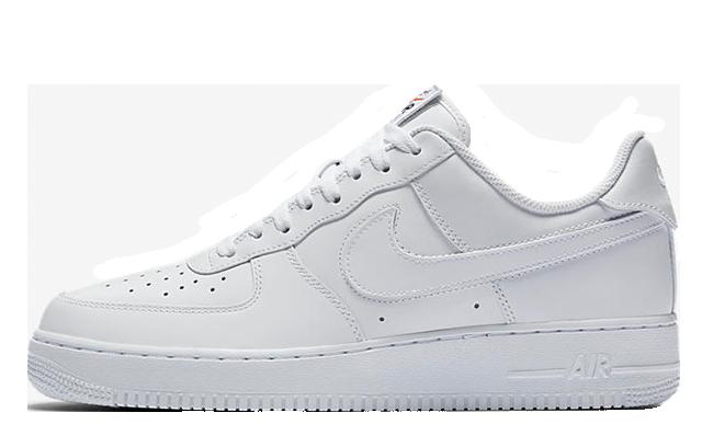 Nike Air Force 1 Velcro Swoosh Pack White.