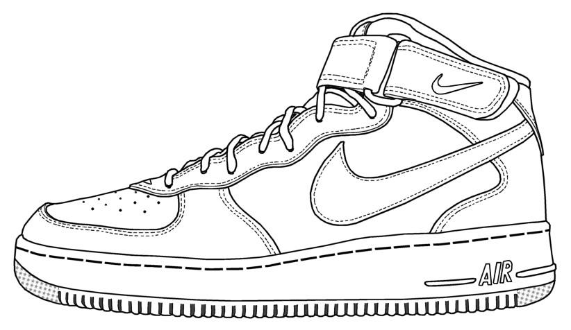 Nike Air Force 1 Clipart.