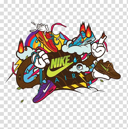 Nike Air logo, Nike Swoosh Illustrator Illustration, Color.