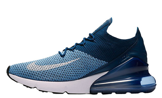Nike Air Max 270 Flyknit Blue.