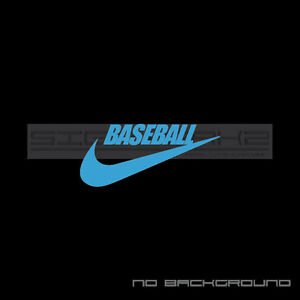 Details about Nike baseball Decal Sticker American Sport Exercise mlb bat  swoosh Pair.