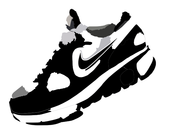 Clip Art Of Nike Sneakers Clipart.