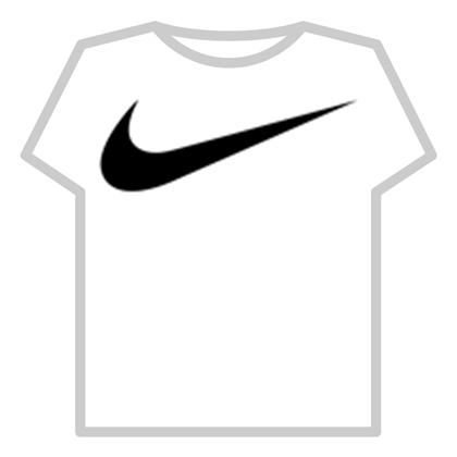 Black nike logo.