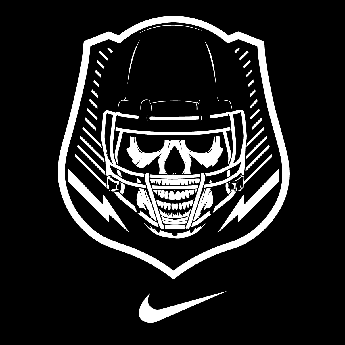 Nike Football The Opening Logo Vector Clipart.
