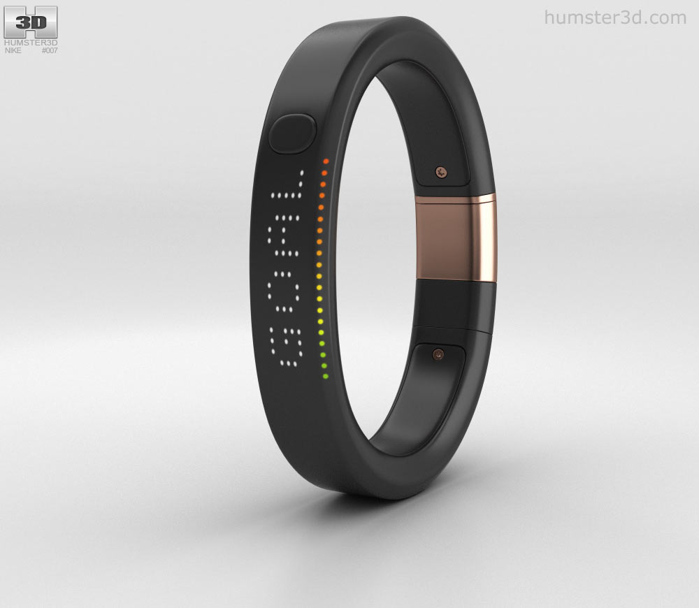 Nike+ FuelBand SE Metaluxe Limited Rose Gold Edition 3D model.