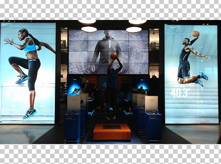Nike+ FuelBand Video Wall Physical Fitness Computer Monitors.