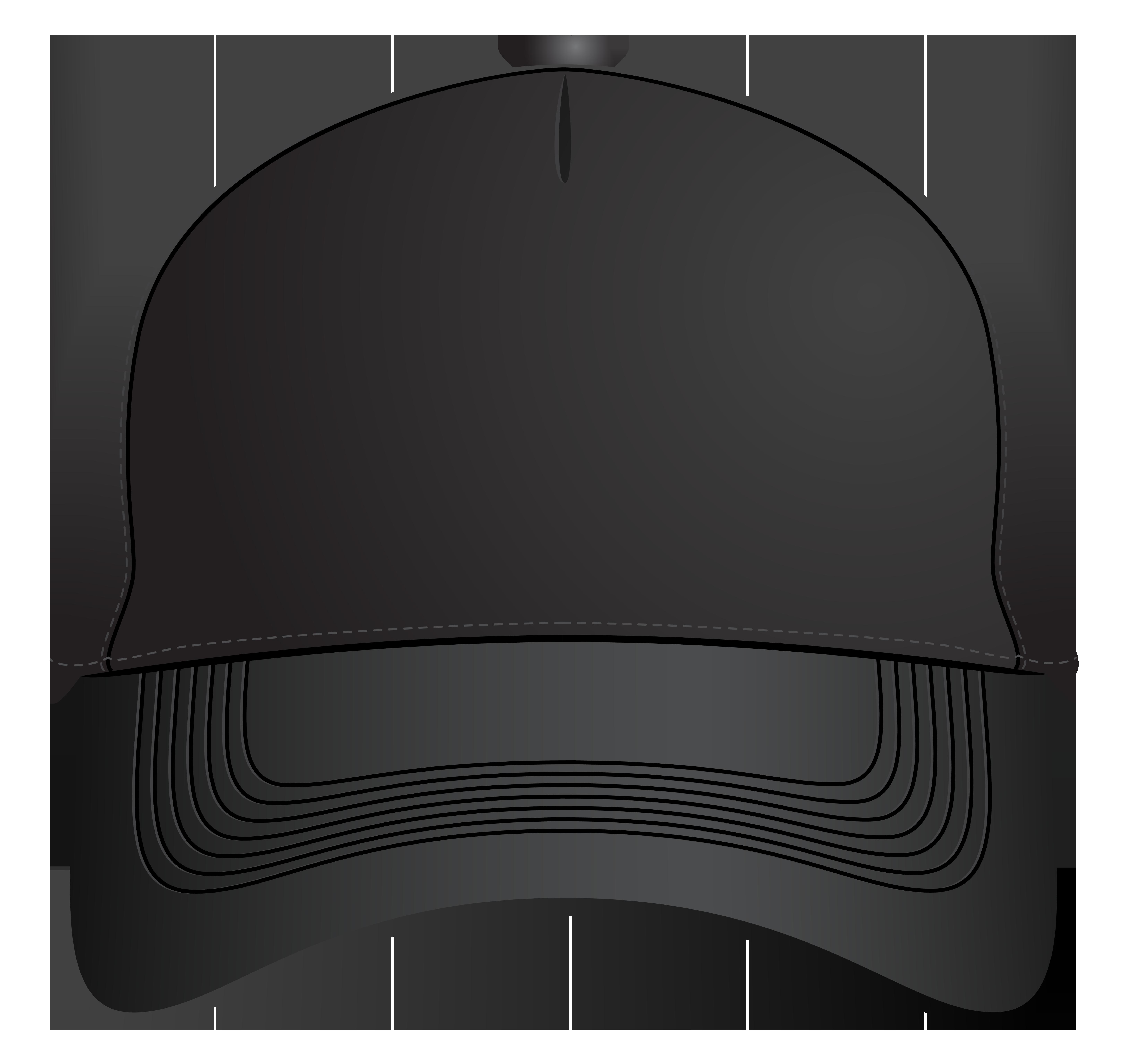 Black Baseball Cap PNG Clipart.