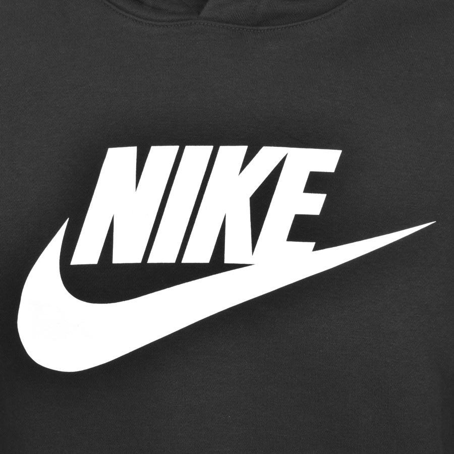 Nike Swoosh Logo Hoodie Black.