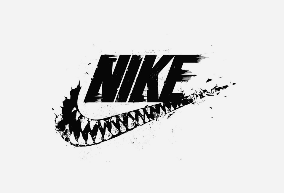 Nike monster mouth swoosh. in 2019.