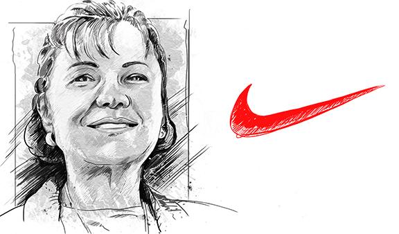 Carolyn Davidson and the Nike Swoosh Logo Design.