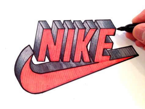 How to Draw Nike Logo in 3D.