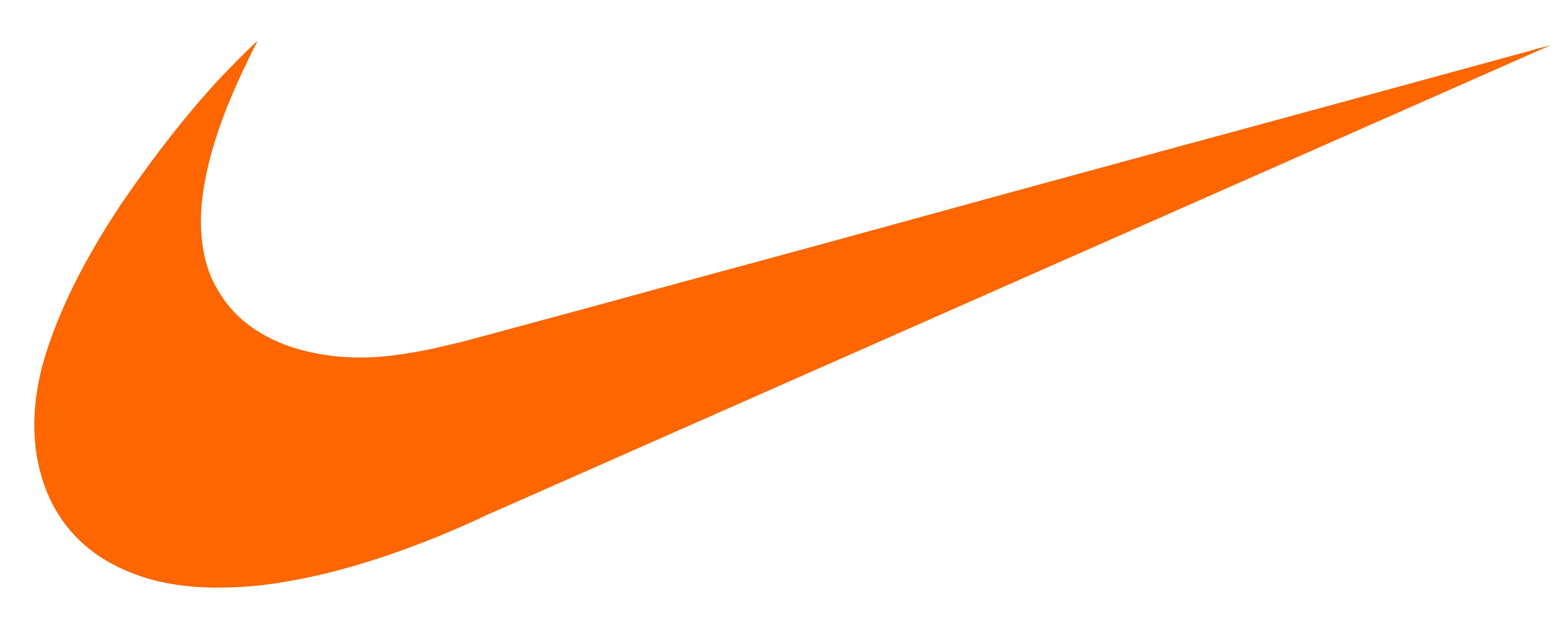 Nike orange swoosh Logos.