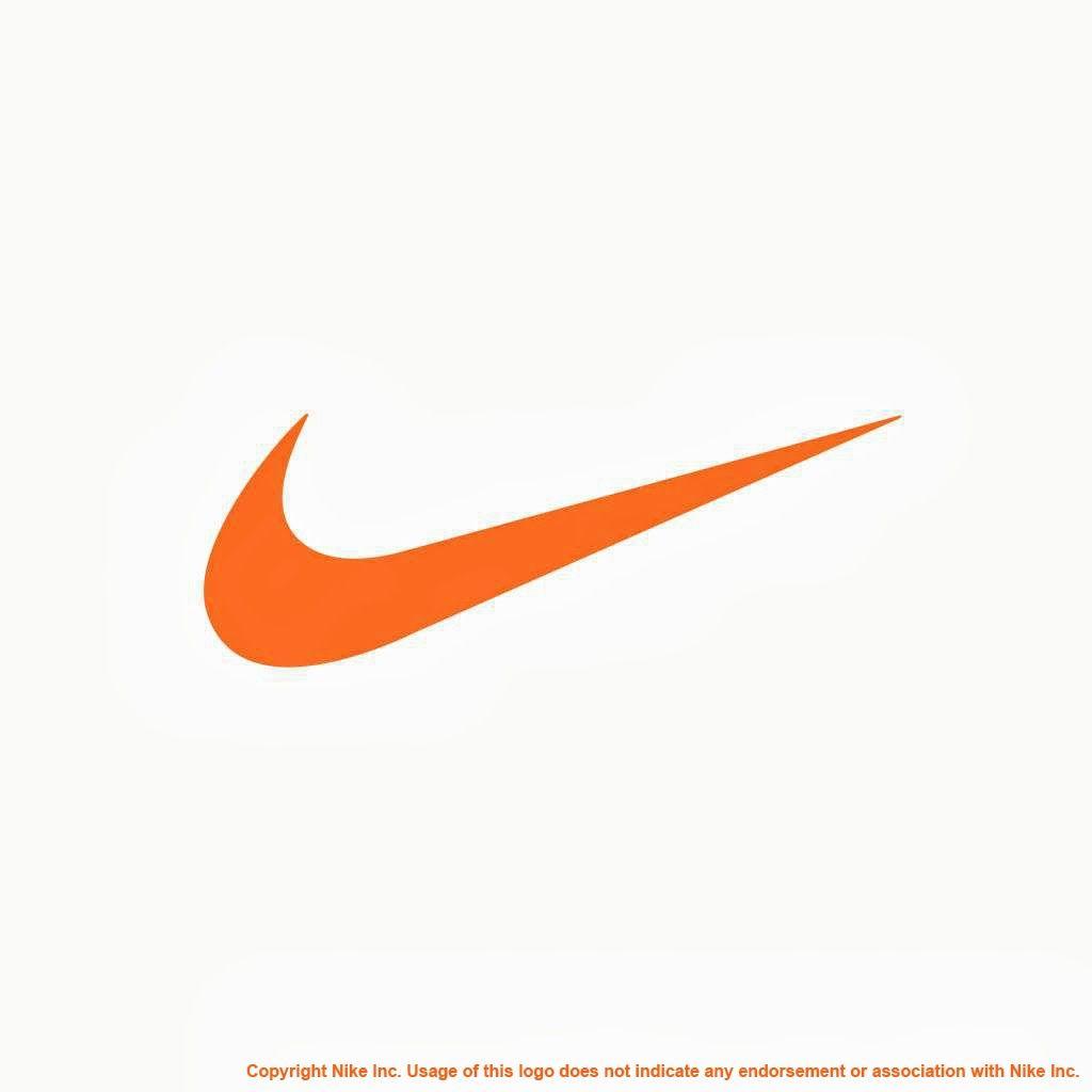 Orange Nike Logo.