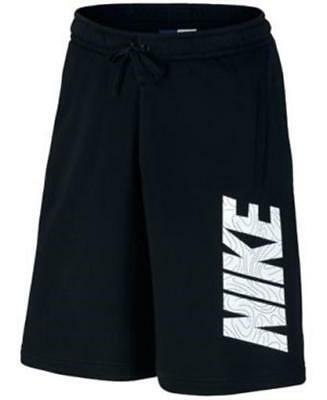 NIKE LOGO SWEAT Shorts Black Mens Size XL New.