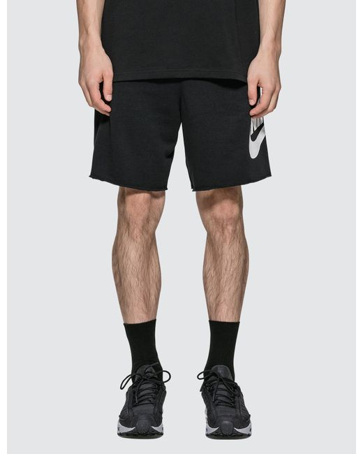 Men\'s Black Logo Shorts.