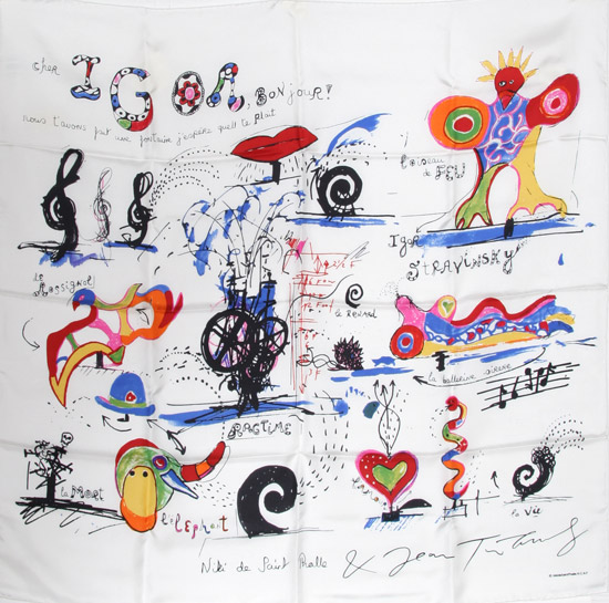 Niki de Saint Phalle Scarf.