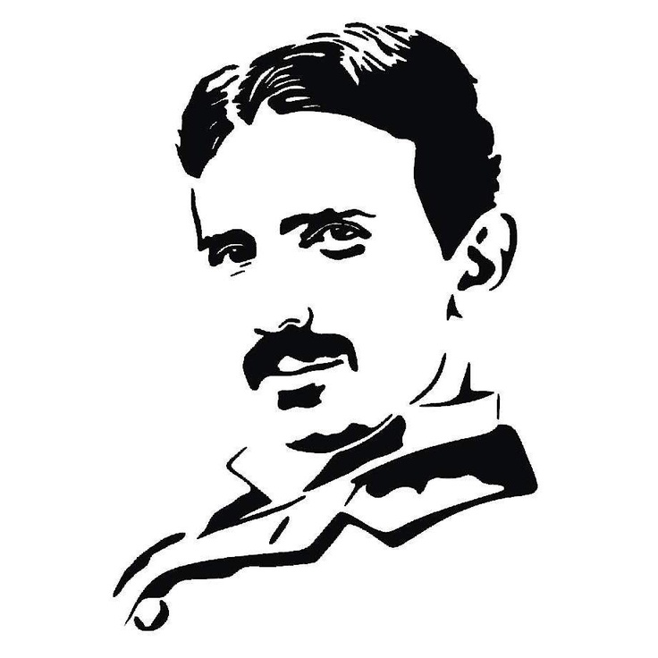 Nikola Tesla scroll saw pattern.