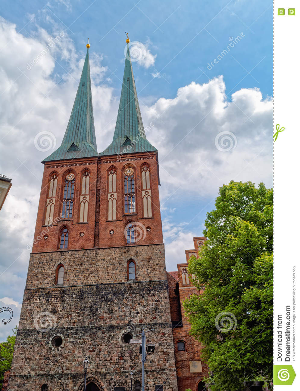 St. Nicholas Church (Nikolaikirche), In Berlin, Germany Stock.