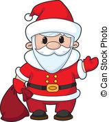 Clip Art Vector of Santa.