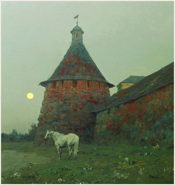 Юрий ВАСЕНДИН, архангельский художник Белая ночь,Соловки.х.м.95х90.