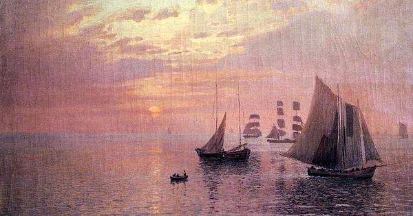 Seascape with Sailboats, 1900, by Nikolay Nikanorovich Dubovskoy.