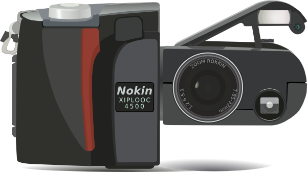 Nikon Coolpix 4500 Digital Camera clip art Free Vector / 4Vector.