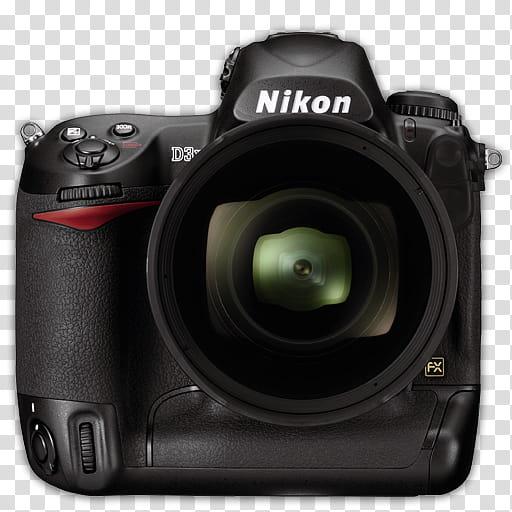 Modern DSLR Icon Collection, Nikon_Dx, black Nikon DSLR.