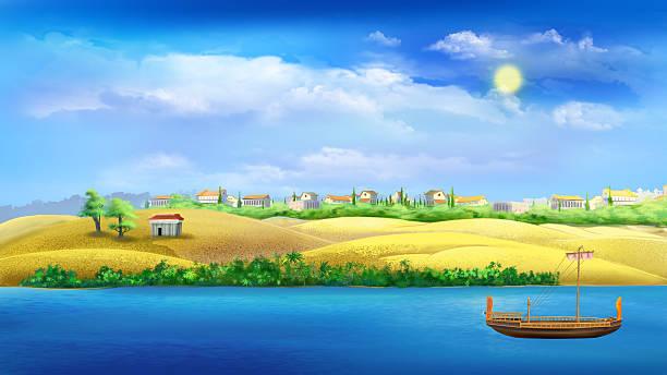 Cartoon Of Nile River Clip Art, Vector Images & Illustrations.