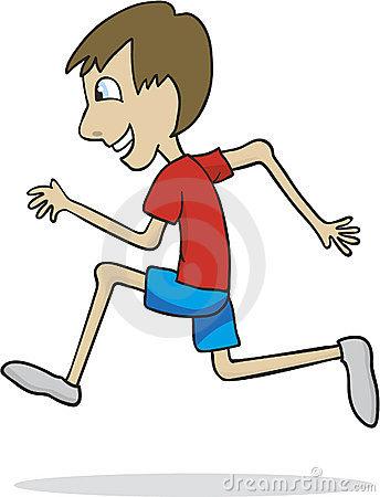 Cartoon Boy Playing Soccer Royalty Free Stock Image.
