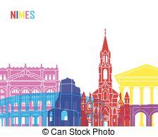 Nimes skyline Clipart and Stock Illustrations. 10 Nimes skyline.