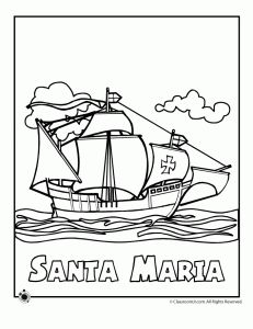 nina pinta and santa maria coloring sheet columbus coloring