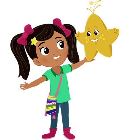 Nina Holding Star transparent PNG.