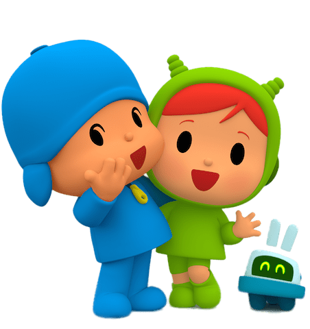 Pocoyo and Friend Nina transparent PNG.