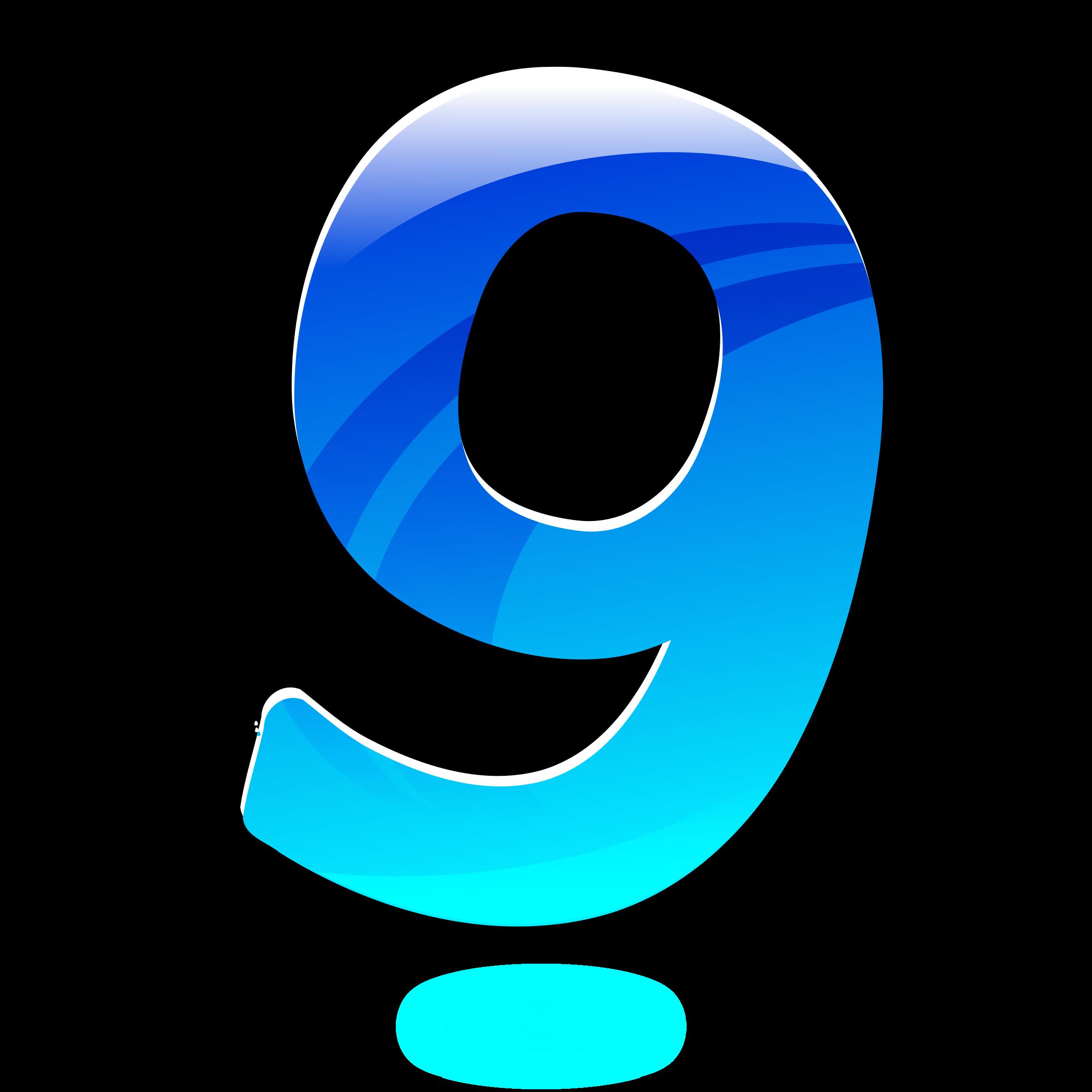 Number Nine Clipart.