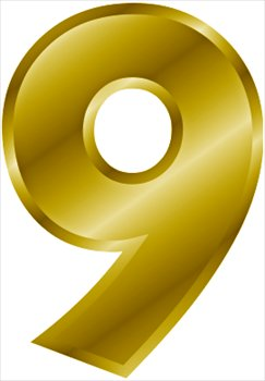 Number 0 9 Clipart.