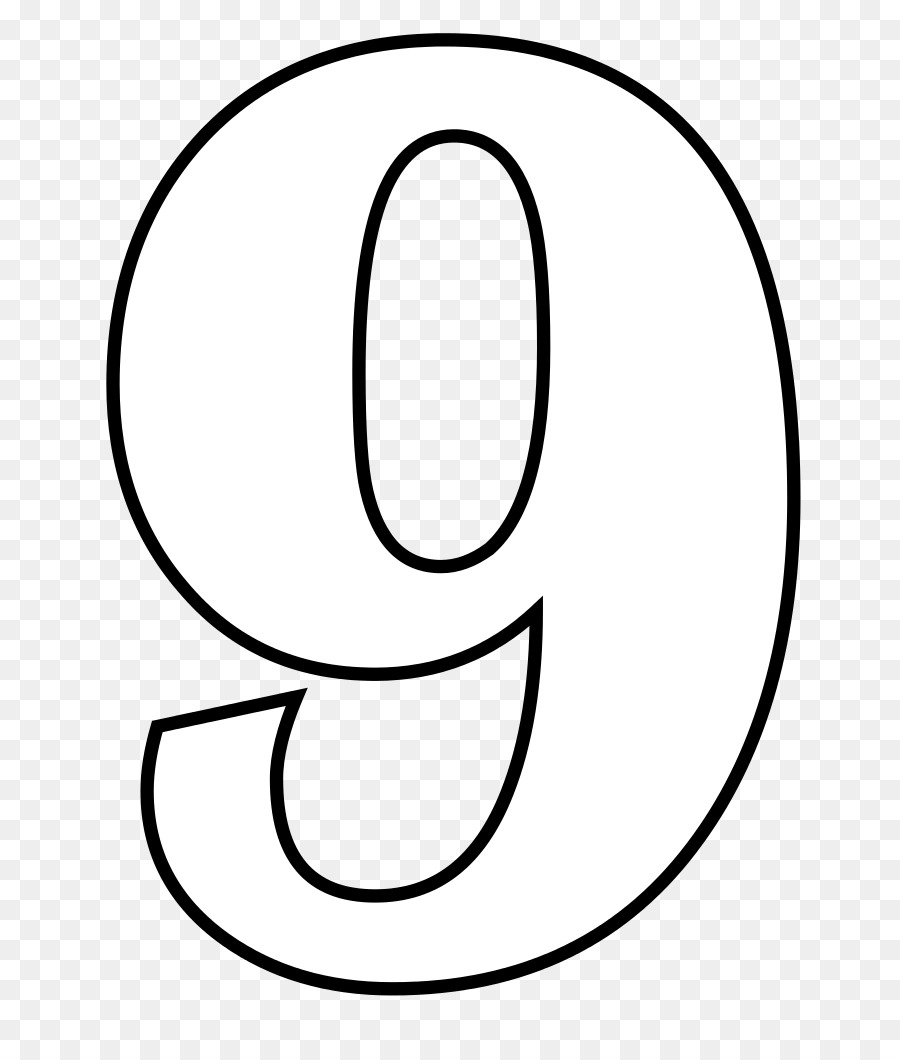 Number Nine Clipart Black And White.